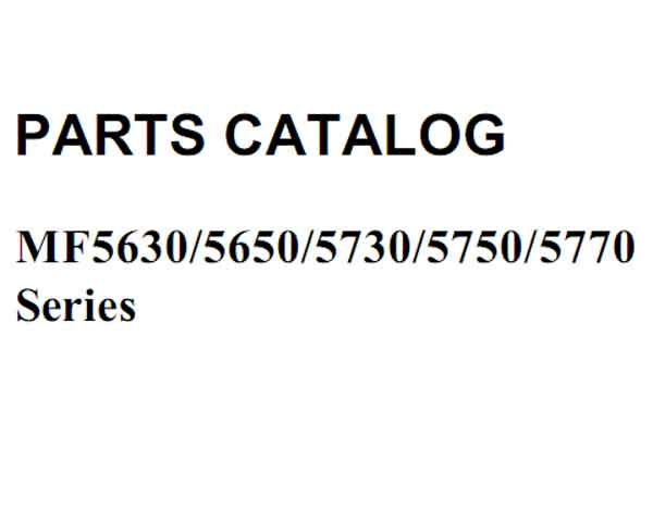 CANON MF5630, MF5650, MF5730, MF5750, MF5770  Series Parts Catalog