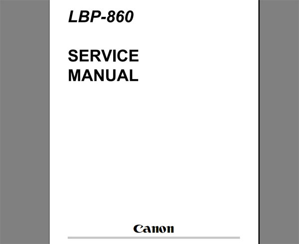 CANON LBP-860 Laser Printer Service Manual and Parts Catalog