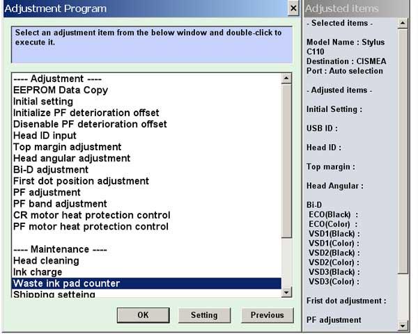 Adjustment Program Epson