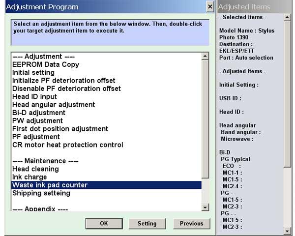 Epson 1390 Adjustment Program For Windows 10