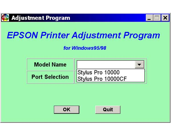 Epson Pro 10000, 10000CF Service Adjustment Program <font color=red>New!</font>