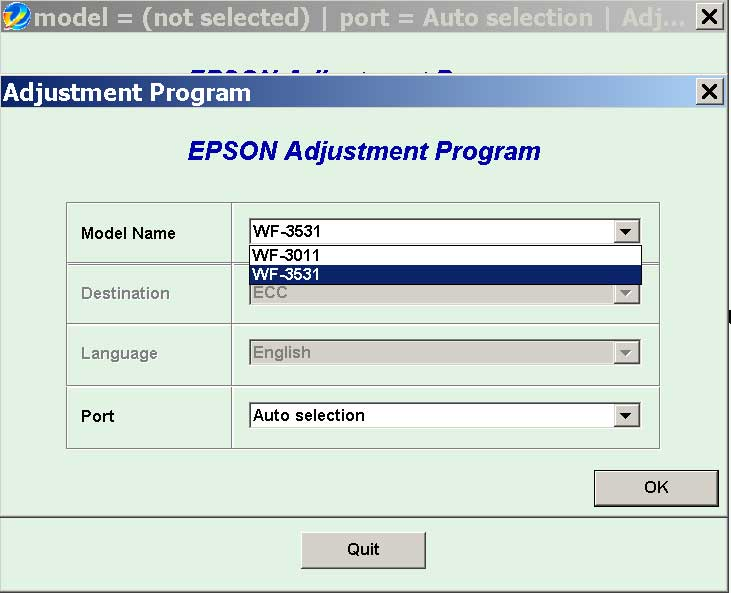 Epson <b>WorkForce WF-3011, WF-3531</b> (ECC China) Ver.1.0.5 Service Adjustment Program  <font color=red>New!</font>