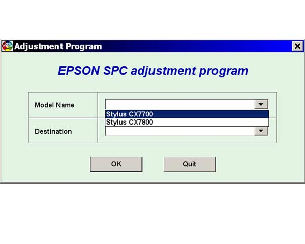 EPSON CX7700, CX7800 Service Adjustment Program <font color=red>New!</font>