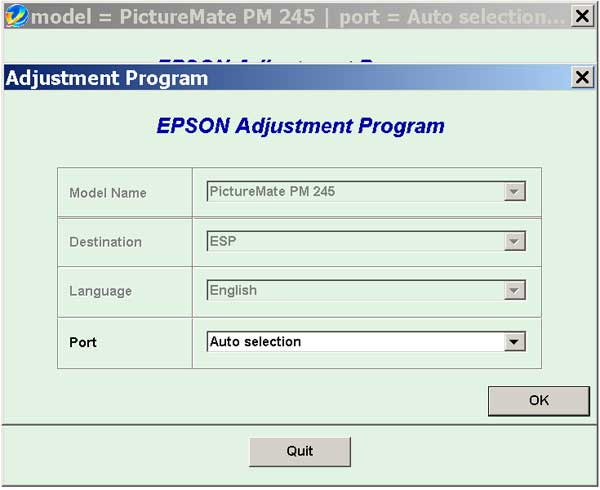 Epson <b>PictureMate PM245</b> (ESP) Ver.1.0.0 Service Adjustment Program  <font color=red>New!</font>