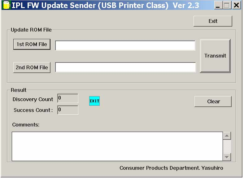! Epson <b>IPL USB Sender</b> - service utility for updating printer firmware <font color=red>New!</font>