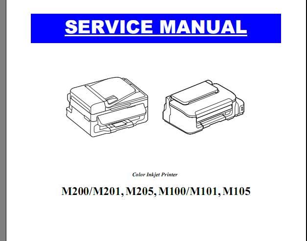 Epson M100 M101 M105 M200 M201 M205 Printers Service Manual New Service Manuals Download Service