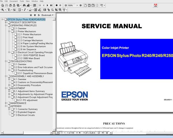 epson r245 service manual online user manual u2022 rh pandadigital co Epson Stylus Photo R280 Epson R280 Driver Windows 8