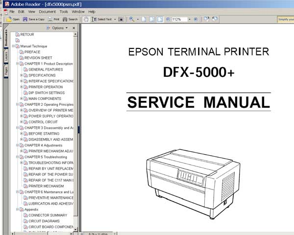 epson dfx 5000 printer service manual service manuals download rh 2manuals com Epson DFX-9000 Specs epson dfx 9000 service manual download
