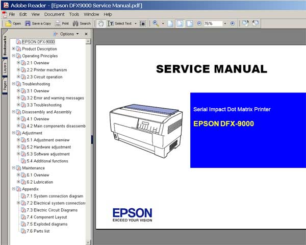 epson dfx 9000 printer service manual and parts list service rh 2manuals com Epson DFX-9000 Specs Epson DFX-9000 Specs