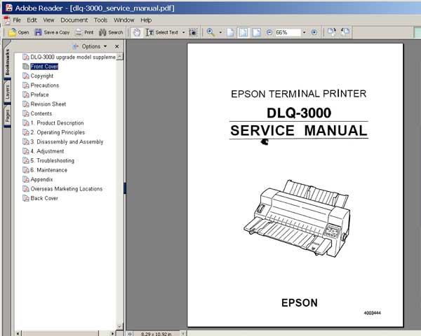 epson epl 5500 terminal printer service repair manual