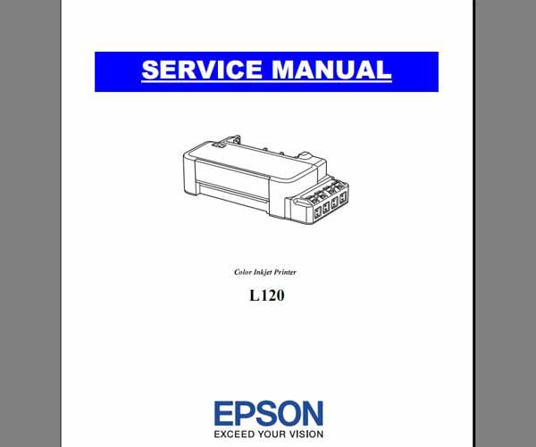 Epson L120 printers Service Manual - Service Manuals download service