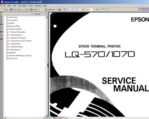 Epson lq-570 / lq-1070 terminal printer service repair.