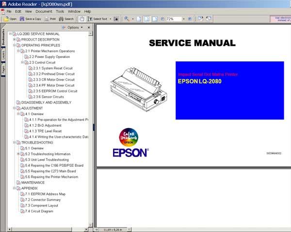 Ep 2080 service Manual