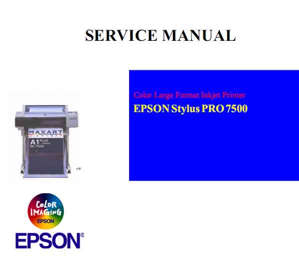 Stylus Pro 7500 Printer Service Manual