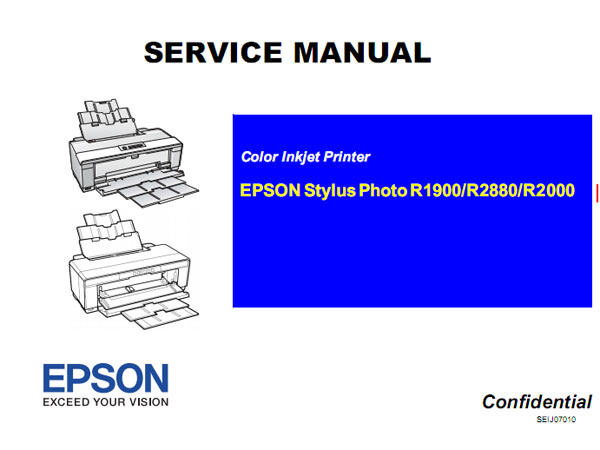 Epson <b>R2000, R1900, R2880</b> printers Service Manual  <font color=red>New!</font>