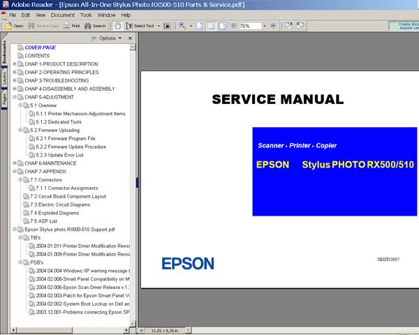 epson rx500 rx510 service manual service manuals download service rh 2manuals com Epson RX500 Printer Error RX500 Locomotive