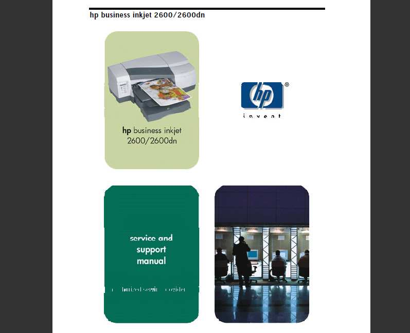 HP Business InkJet 2600, 2600dn Series Printers Service Manual