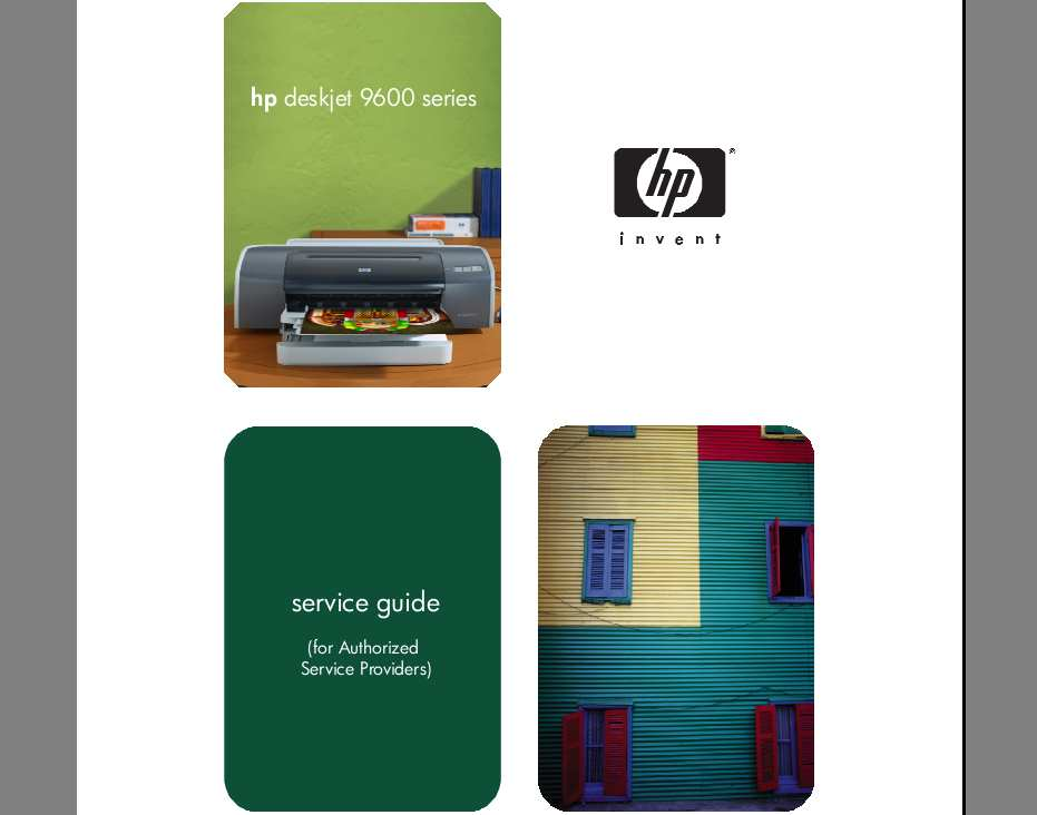 HP DeskJet 9600 Series Printer Service Manual