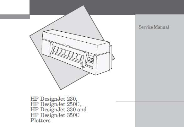 HP DesignJet 230, 250C, 330, 350C Plotters Service Manual, Parts and Diagrams