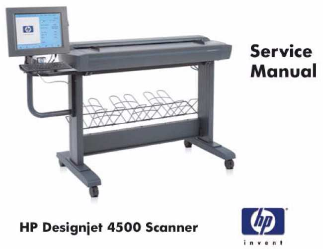 HP Designjet 4500 Scanner Service Manual,  Parts  and Diagrams