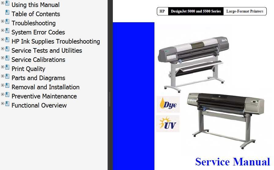 Hp 5500 Manual service
