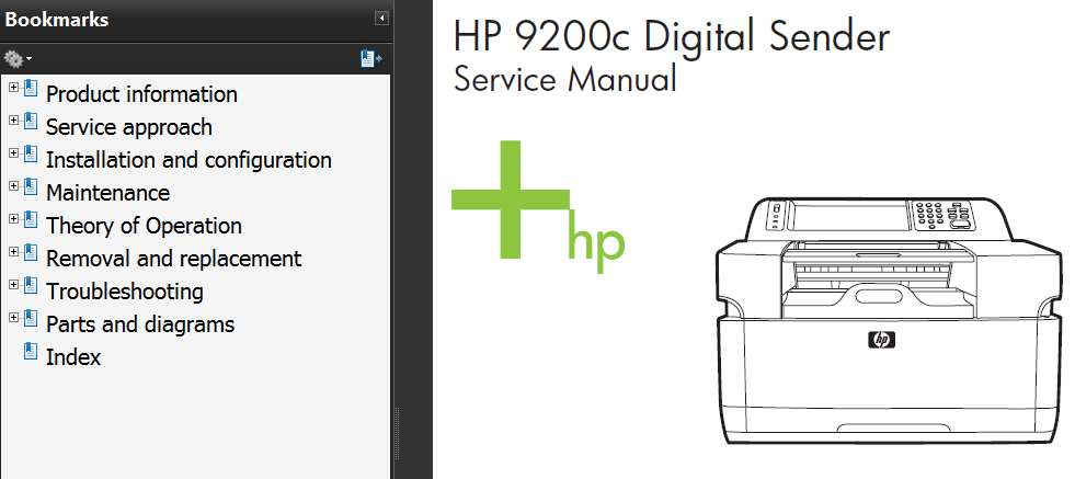 HP Digital Sender 9200C Service Manual, Parts and Diagrams