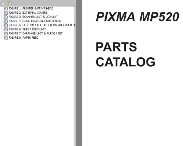 CANON MP520 Parts Catalog