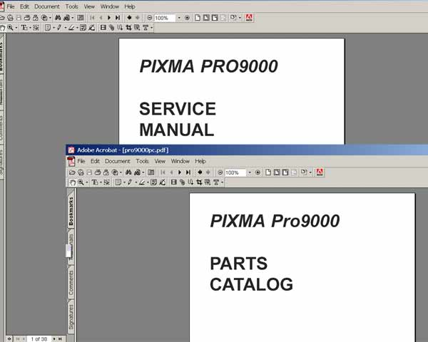 canon pixma pro 9000 printer service manual and parts catalog rh 2manuals com Canon Pixma Pro Canon Printer Drivers