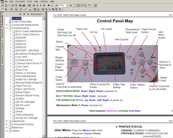 Stylus Pro 4800 Printer Field Repair Guide - Service Manuals