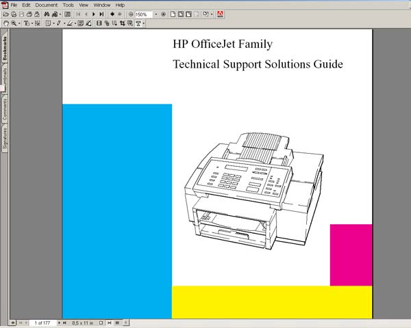 HP OfficeJet Family <br> Technical Solutions Support Guide