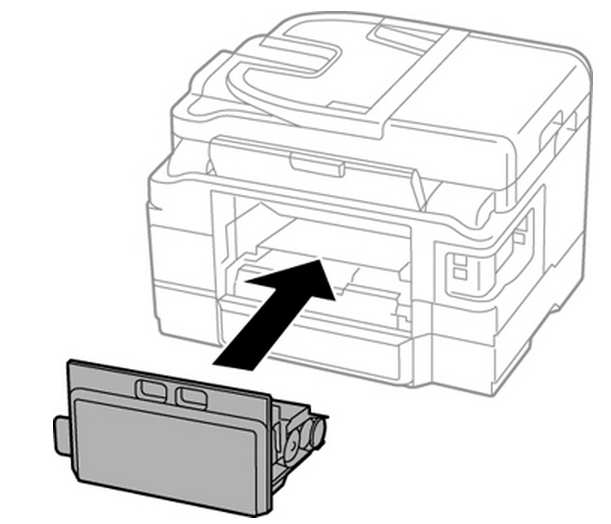 Epson WF-3620, WF-3640 Maintenance box replacement without